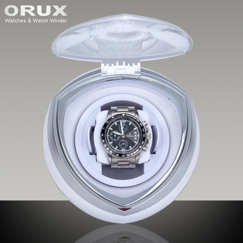 купить ORUX New Arrival White Single Watch Winder for automatic watches watch box automatic winder storage display case box по цене 4623.83 рублей