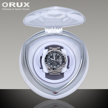 ORUX New Arrival White Single Watch Winder for automatic watches watch box automatic winder storage display case box
