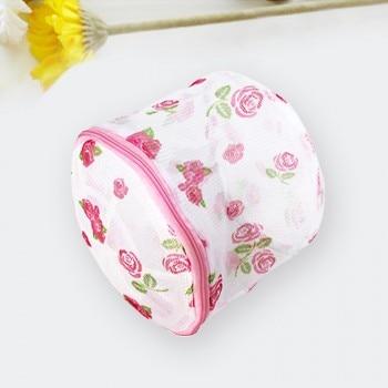 1pcs Multifunction Bra Care Wash Protect Bag With Hanger Ball Bra Underwear Storage Drying Rack Basket 15x16cm