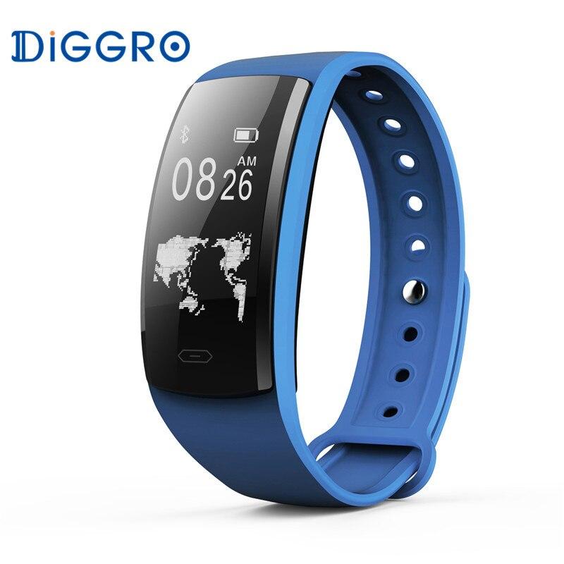 Diggro QS90 <font><b>Bluetooth</b></font> <font><b>Smart</b></font> Браслет QS80 Pro браслет сердечного ритма Мониторы шагомер сообщение IP67 здоровья спортивные Фитнес браслет