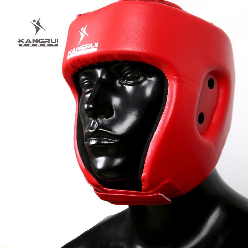 קסדה איגרוף אדום כחול מבוגר ילדים קיקבוקסינג הלחימה כיסוי ראש TKD MMA ראש מגן muay טאי מגן קסדה מגן