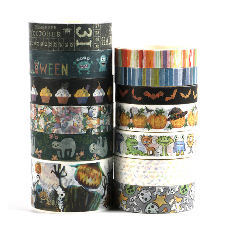 NEW Skull Halloween Washi Tape Pumkin Ghost Tape , Vampire GraveE Adhesive Tape Scrapbooking Tape