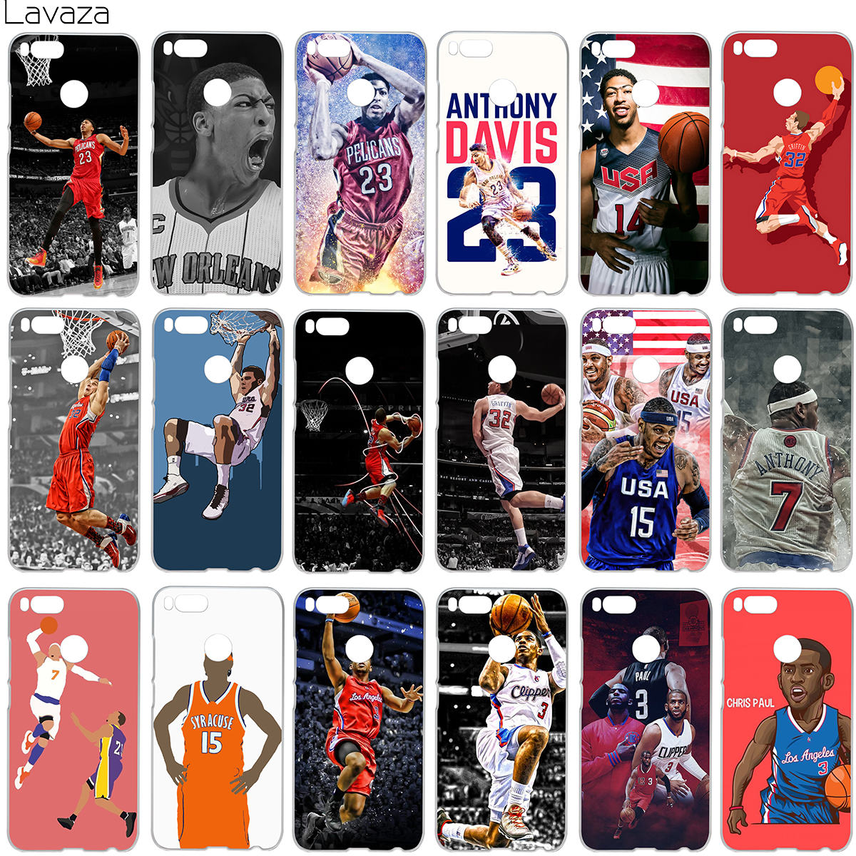 Lavaza Anthony Davis Blake Carmelo Anthony Chris Paul Case for Xiaomi Redmi Note 4X MI A1 4 5 6 Plus 4A MI6 Pro 5A