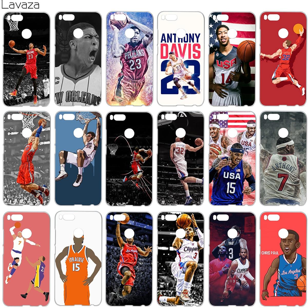 Lavaza Anthony Davis Blake Carmelo Anthony Chris Paul Case for Xiaomi Redmi Note 4X MI A1 4 5 6 Plus 4A MI6 Pro 5A