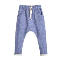 Autumn Baby Girls Boys Pants 2017 New Solid Kids Trousers High Drawstring Cotton Pants for Boy Casual Children Clothing 3p011