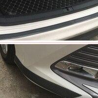 DIY карбоновое волокно автомобиля Накладка двери подоконник крышка панели протектор передачи авто бампер грили анти-столкновение Декоративная полоса