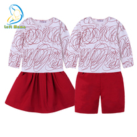 Family Matching Clothes Brother And Sister Clothing Set 2018 Spring Summer Long Sleeve Graffiti T Shirt