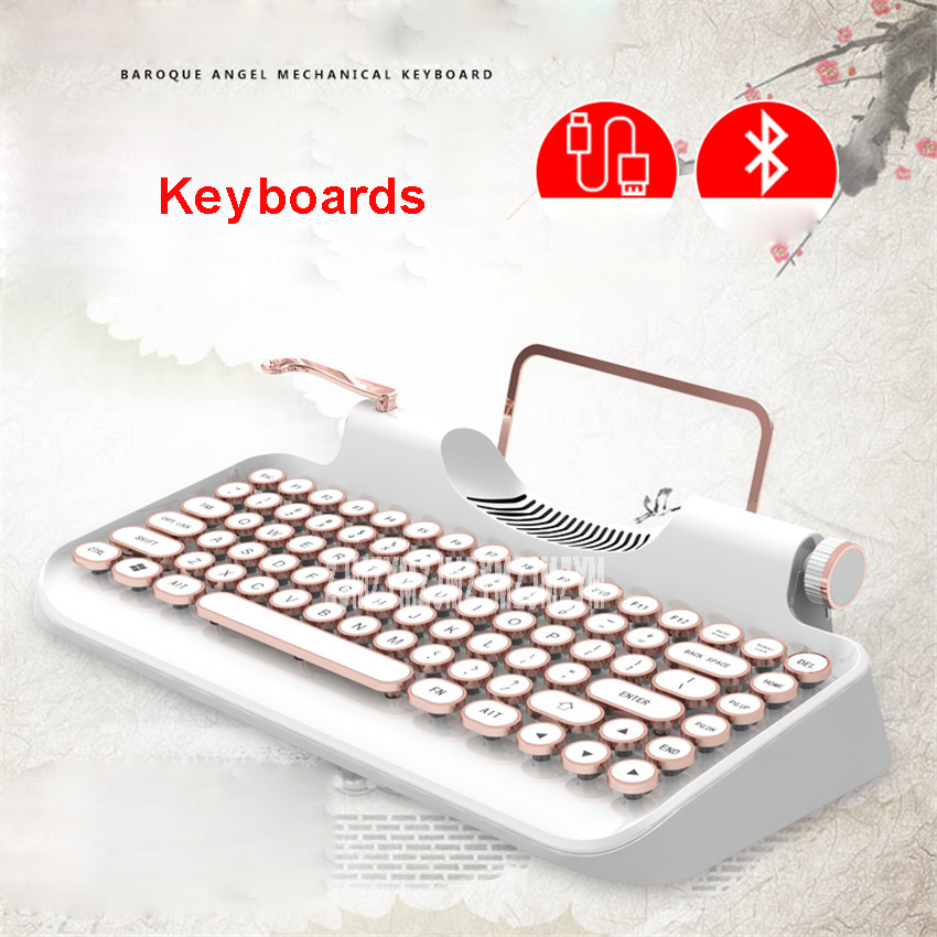 все цены на 1PC Keyboards 83 keys Led mechanical Wired USB tablet steampunk Keyboard Gaming for ipad Macbook Windows Android IOS онлайн