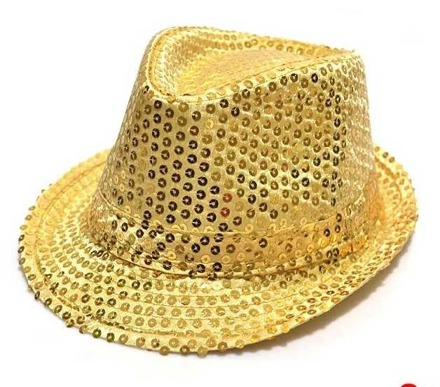 2e7f1a21f83 ... 8pcs  lot Kids Bling Bling Jazz Cap Children Boys Girls Stage Show Hat  Fascinator Party ...