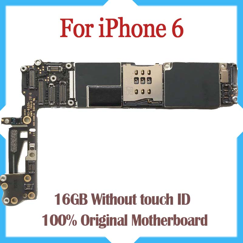 Тестирование хорошие рабочие оригинальный заводской разблокированный 16 ГБ материнская плата для iPhone 6 4,7 дюйма плате без Touch ID бесплатная до...