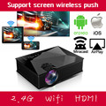 Smart 2.4G WIFI Домашний Бизнес Кинотеатр HDMI USB LCD Видео Портативный Мини 1080 P HD LED Проектор Proyector Для Iphone Android
