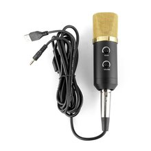 MAHA USB Studio Condenser Recording Microphone With Mount Stand + Microphone Windshield For Studio Community Singing, Black