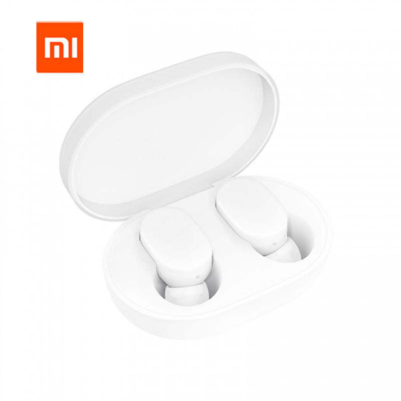 Original Xiaomi MIjia Airdots TWS Bluetooth 5.0 Earphone Youth Version Touch Control with Charging Box xiaomi tws airdots bluetooth earphone youth version stereo bass bt 5 0 headphones mic handsfree earbuds ai control