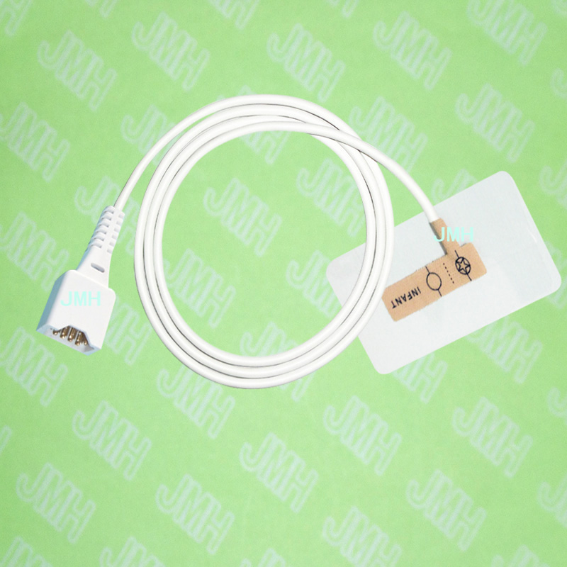 Compatible DB9 pin Dolphin Pulse Oximeter monitor the Infant baby disposable SPO2 sensor(Non-woven),5 pcs.