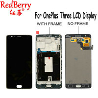 Redberry For 5 5 FHD Oneplus 3 A3000 A3003 LCD Display Touch Screen Digitizer Frame Assembly