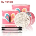 By Nanda Brand 200 pcs/pack Disposable Cotton Swab Eyelash Extension Micro Individual Applicators Mascara Brush Cotton Soft Swab