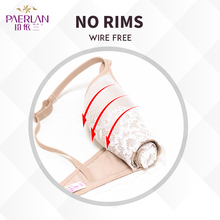 PAERLAN Seamless Wire Free lace bra small breasts Push Up One – Piece sexy Back Closure Tow Hook – and – eye underwea Women Cup