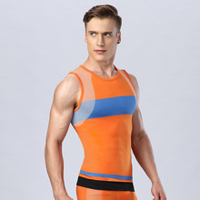 Shipping2016 Mens Free Hit Color Tight Vest Shapers Comfortable and Breathable Fast Drying Soft Reduction Underwear