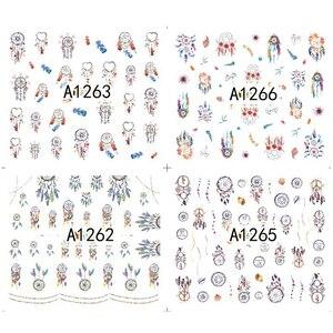 Image 2 - 12 עיצובים חלום קאתר מים מדבקת העברת מדבקות ציפורניים קעקועים סטי ג ל פולני DIY קסם מניקור שקפים A1261 1272