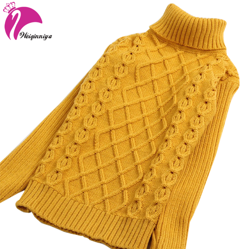 New Arrival Children Sweater Girls For Winter Turtleneck Warm Girls Children Sweaters Preppy Style Girl Boys Sweaters Clothing