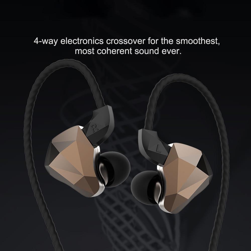 FDBRO TOPAZ 4BA+1DD 10MM Bio-Diaphragm Customized Alloy Dynamic Driver  Hybrid In Ear Earphone HIFI DJ Monitor Earphone Earbuds