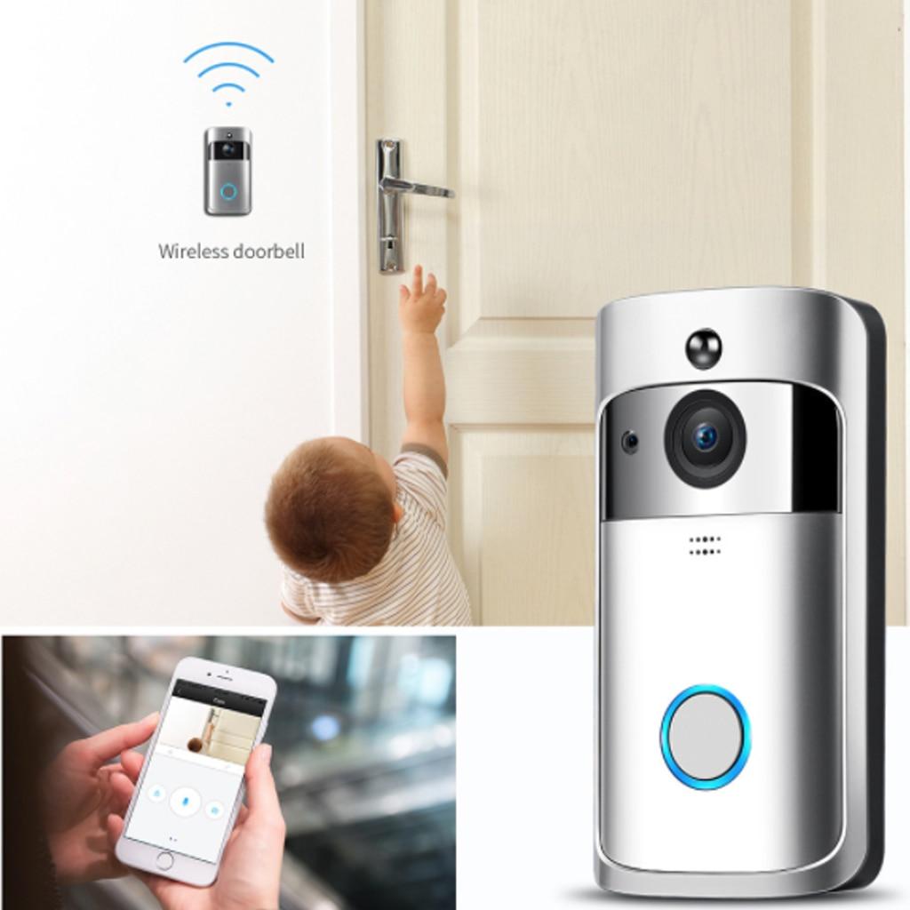 Sonnette sans fil appel téléphone intelligent porte cloche WIFI sonnette pour appartements étanche US EU prise batterie puissance porte cloche sans fil - 2