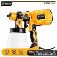 DEKO DKCX01 Electric Spray Gun 220V 500W High Pressure Airbrush 3 Nozzle High Atomizing Spray Paint Tool