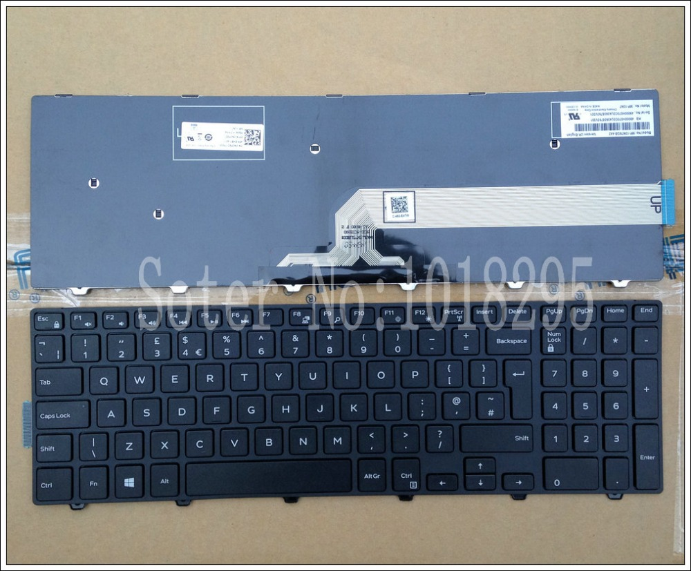 New UK black Laptop keyboard for Dell Inspiron 15 3000 5000 3541 3542 3543 5542 3550 5545 5547 15 5547 15 5000 15 5545 17 5000-in Replacement Keyboards from Computer & Office on
