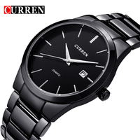 2016 New Fashion Curren Brand Design Business Calender Men Male Clock Casual Stainless Steel Luxury Wrist