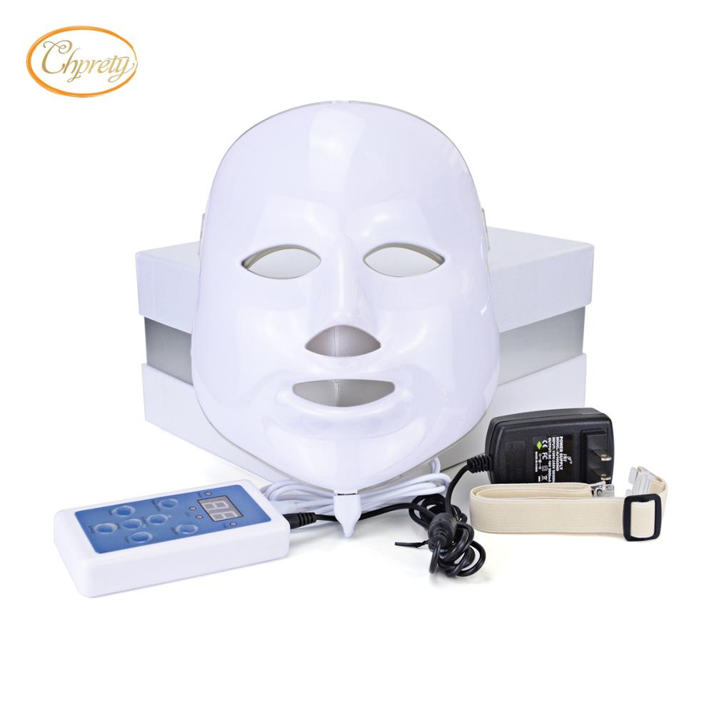 7 colors photon PDT led skin care facial mask blue green red <font><b>light</b></font> therapy beauty devices with wholesale price