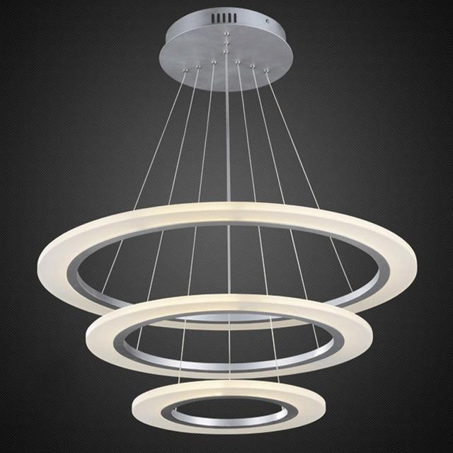 Nowoczesne żyrandole Akrylowe światła Led Lampa Dla Jadalnia Salon