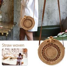 Rotin sac de rangement fait à la main bohème Style rétro maison tissé sac creux torsion motif mode femmes pochette 2019