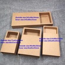 20 cái/lốc Trống Kraft Paper Drawer Hộp Đen Bìa Bao Bì Box DIY Handmade Soap Craft Jewel Đảng Hộp Quà Tặng
