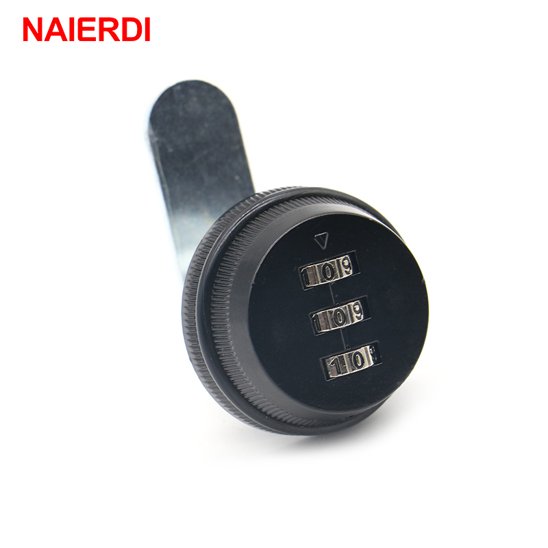 NAIERDI Combination Cabinet Lock Black/Silver Zinc Alloy Password Locks Security Home Cam Lock For Mailbox Cabinet Door Hardware 3 digit combination camlock chrome cabinet locks door cabinet drawer lock for mailbox black