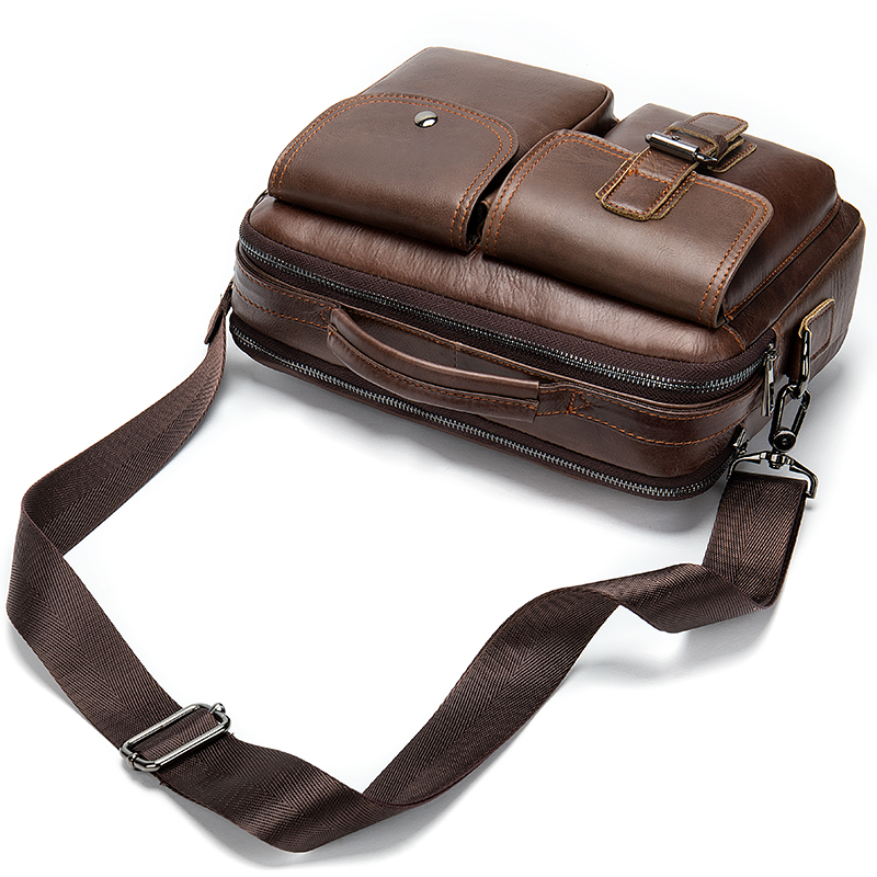 Men's Leather Bag Men's Genuine Leather Laptop Bag Men Vintage Mens Briefcase Bags Office/laptop Bags For Men Briefcase     8592