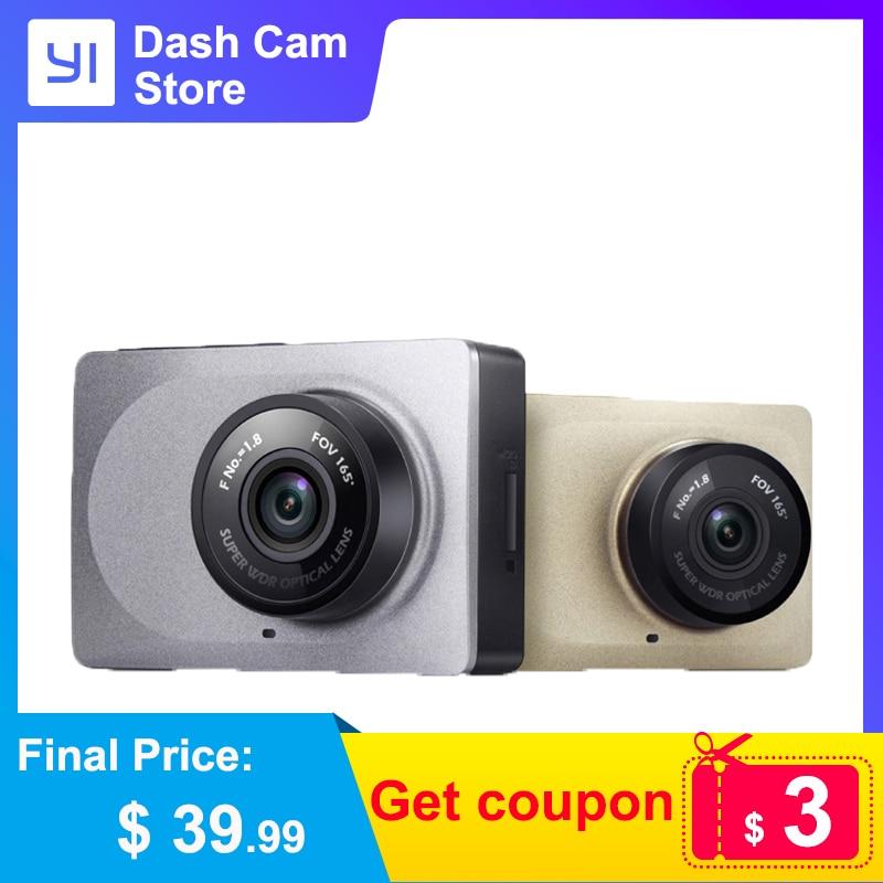 YI Smart Dash Kamera Video Recorder WiFi Volle HD Auto DVR Cam Nachtsicht 1080P 2,7 165 Grad 60fps Kamera Für Auto Aufnahme
