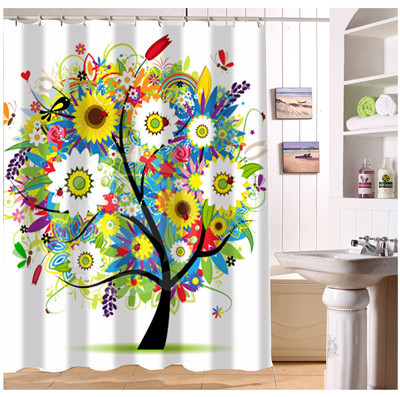 Nanaz New Custom abstract funky tree Art Paintings Modern Shower ...