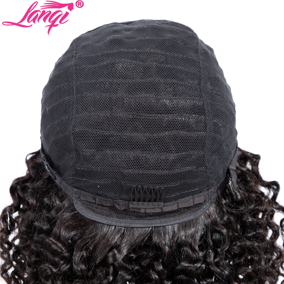 lanqi kinky curly 4×4 lace closure wig lace front curly human hair wigs for black women brazilian lace front wigs curly closure wig