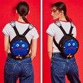 2016 venda quente Mochila Idiota Preguiçoso engraçado masculino feminino mochila das crianças saco dos desenhos animados mochila limitada Mini Relógio Despertador