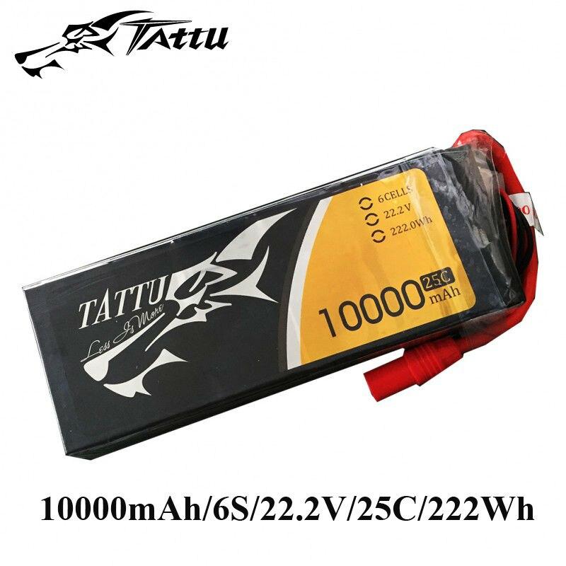 TATTU 10000mAh Lipo Battery 6s for S800 EVO 25C Lipo 22.2V with EC5 plug Batteries for Drones RC FPV UAV RC Multirotors tattu lipo battery 22 2v 22000mah lipo 6s 25c rc battery with as150 xt150 plug batteries for quadcopter drones helicopter