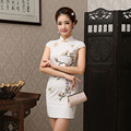 Flower Satin Cheongsam Women Chinese Dress  Vintage Women's Sexy Cheongsam Dress Mandarin  Wedding Dress for Women 18