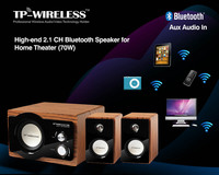 High End 2 1 Channel Bluetooth Speaker For Home Theater System GOOD SOUND QUANLITY