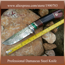 DT082 Import  Vg10 damascus steel knife wood handle camping knife  hunting knife handmade army knifes
