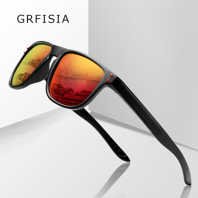 73a5948c306 Activity promotion is cheap Sunglasses Men Polarized UV Goggles Drive Sun  Glasses Red Blue Mirror Shades