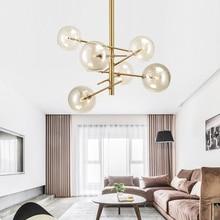 Modern personality magic beans glass pendant lamp designers tree branches glass balls Hanging lamp Modern light fixture