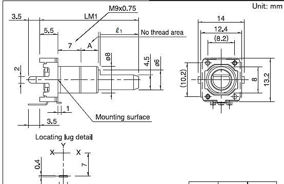 2 шт./лот ALPS Alpine EC12E1220813 кодер 12 позиционирования импульса нить измеряется от 15 мм