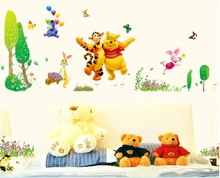 Large Winnie The Pooh Colorful Wall Sticker Art Vinyl Decals Kids Room Decor xy