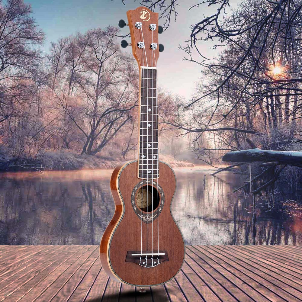 Musical Instruments High Quality 21 Ukulele 42mm Slim Design Soprano Ukelele Sapele Body With Mahogany Fingerboard Nourishing The Kidneys Relieving Rheumatism Sports & Entertainment