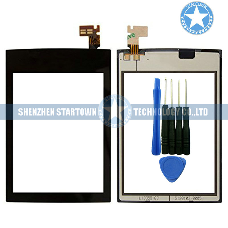 Black For Nokia Asha 300 N300 Have Logo Digitizer Front Screen Touch Panel With Adhesive In The Back Side+Tools