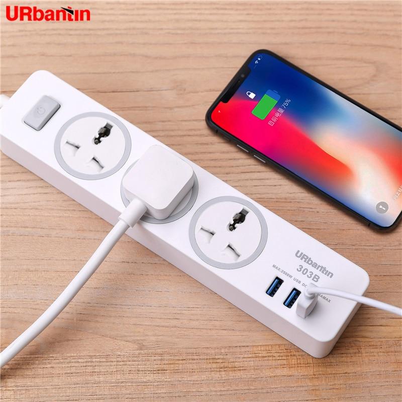 Image 2 - Power Strip Smart plug Home Electronics Fast Charging Socket with USB Universal Socket Plug Extension cord socket For EU UK AU-in Extension Socket from Consumer Electronics